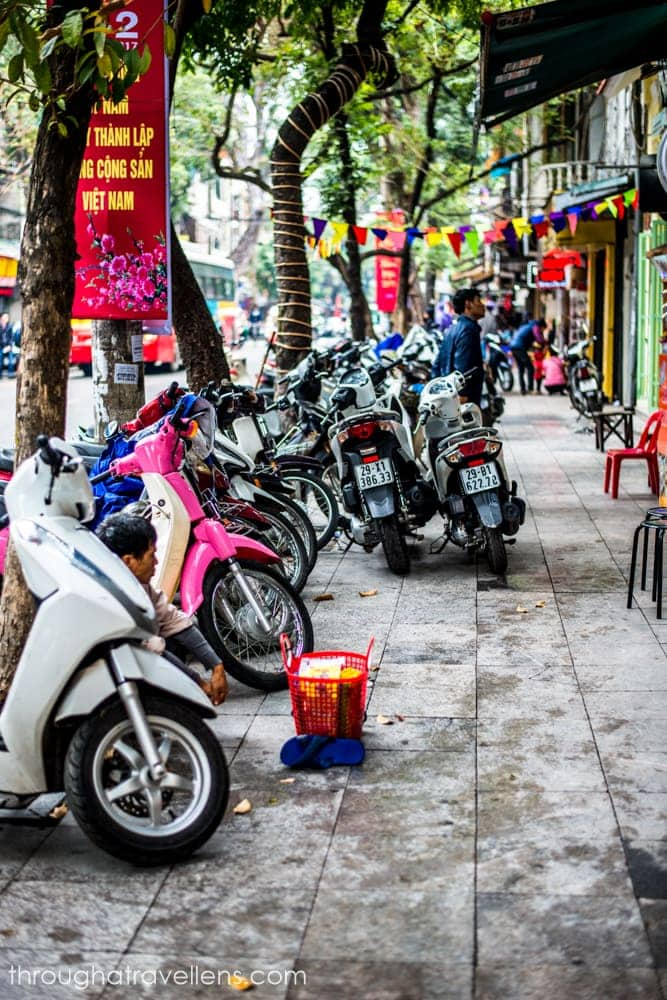 The easiest way to go around Hanoi is by bikes