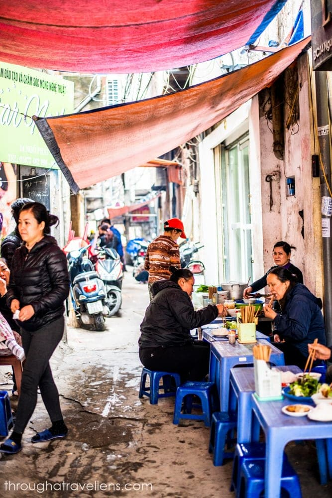 Hanoi Budget Trip: the best way to save on food is street food, which is exceptionally good in Vietnam