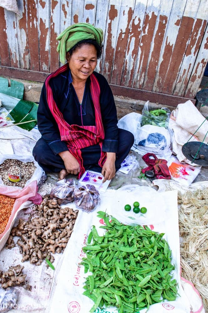 Local goods at Myanmar markets