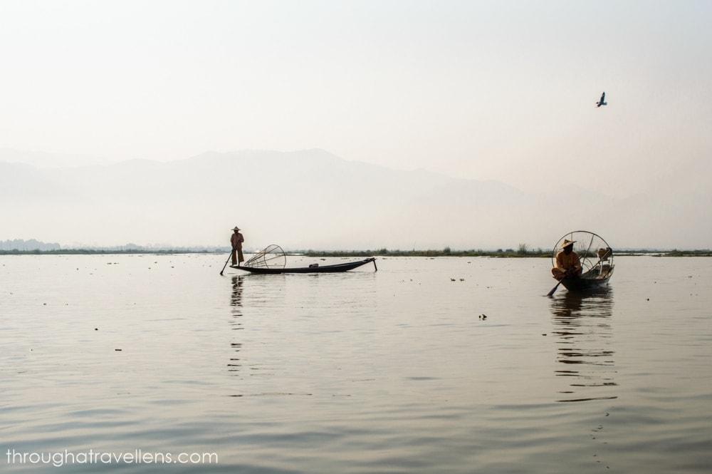 Fishermen on the Inle Lake in Myanmar