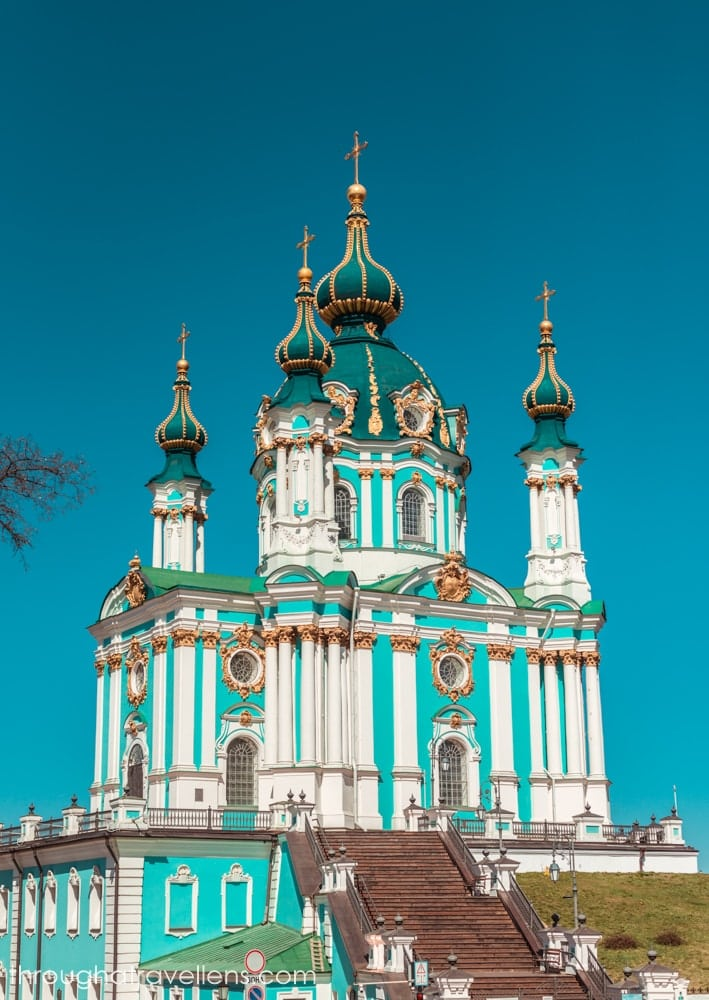 A true gem of Kiev old town - St. Andrew's Cathedral