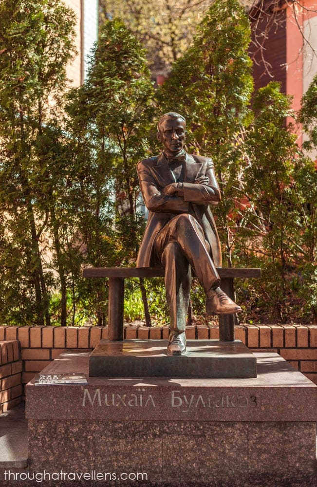 Bulgakov's statue on Andriivsky descent