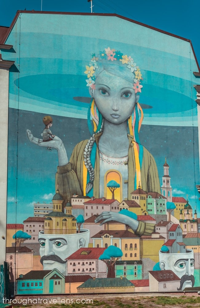 The mural on Andriivsky descent