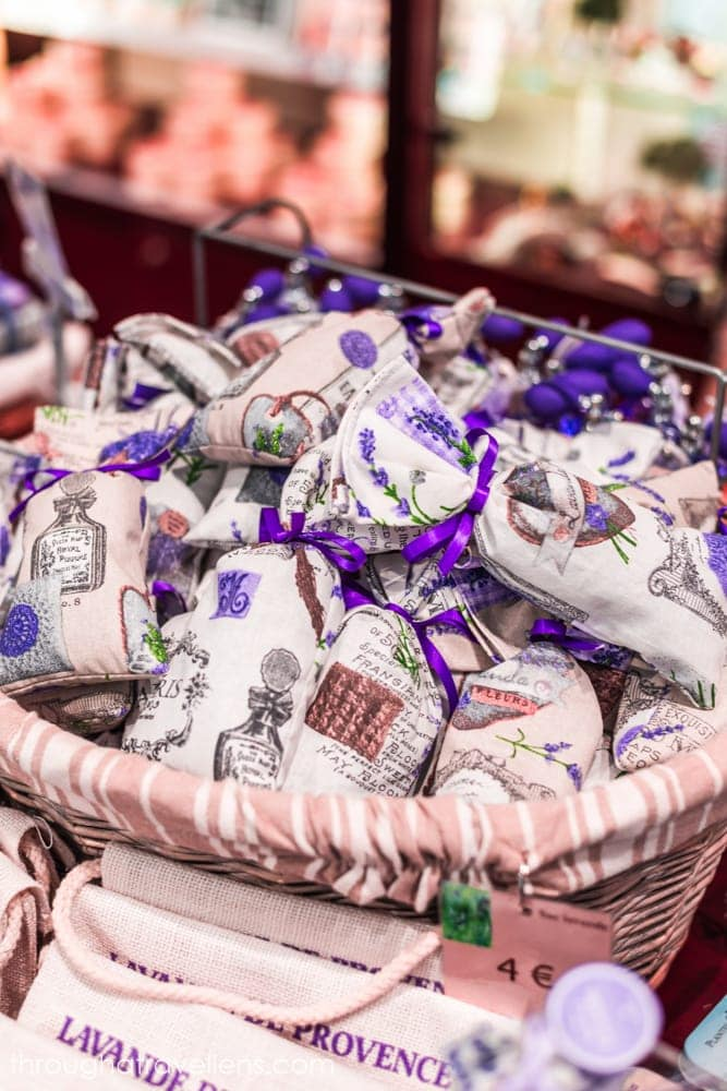 Lavender sache is one of the most popular souvenirs from Provence