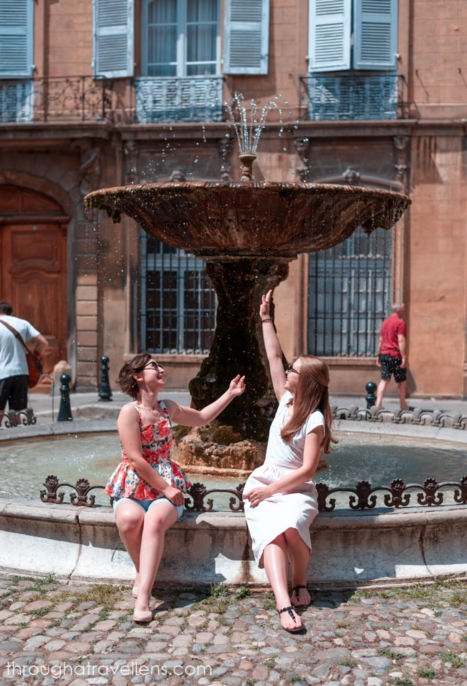 The fountain on Place d'Albertas in Aix-en-Provence