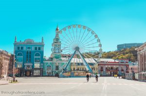 Travel to Ukraine's capital in spring to enjoy nice weather and walks around the old city