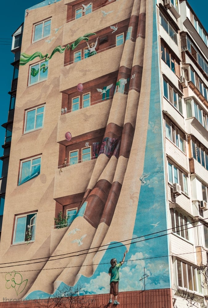Kiev for tourists: murals in residential areas