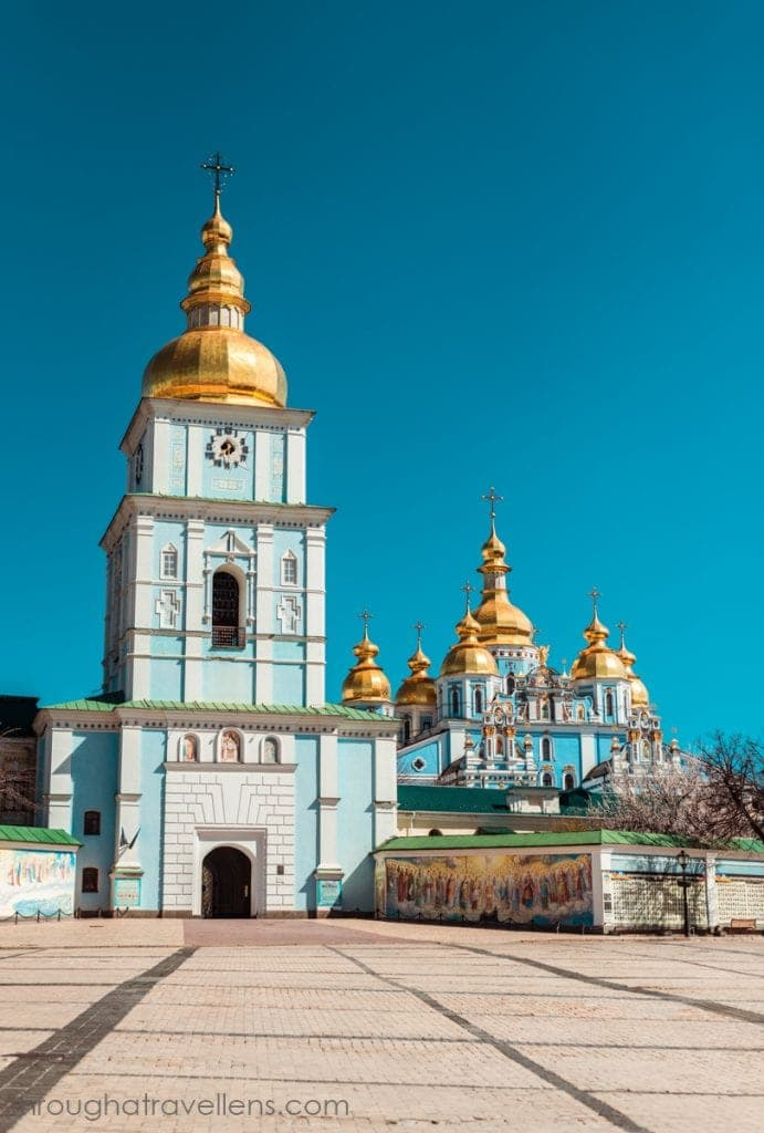 St. Michael's Cathedral in the downtown of Kiev