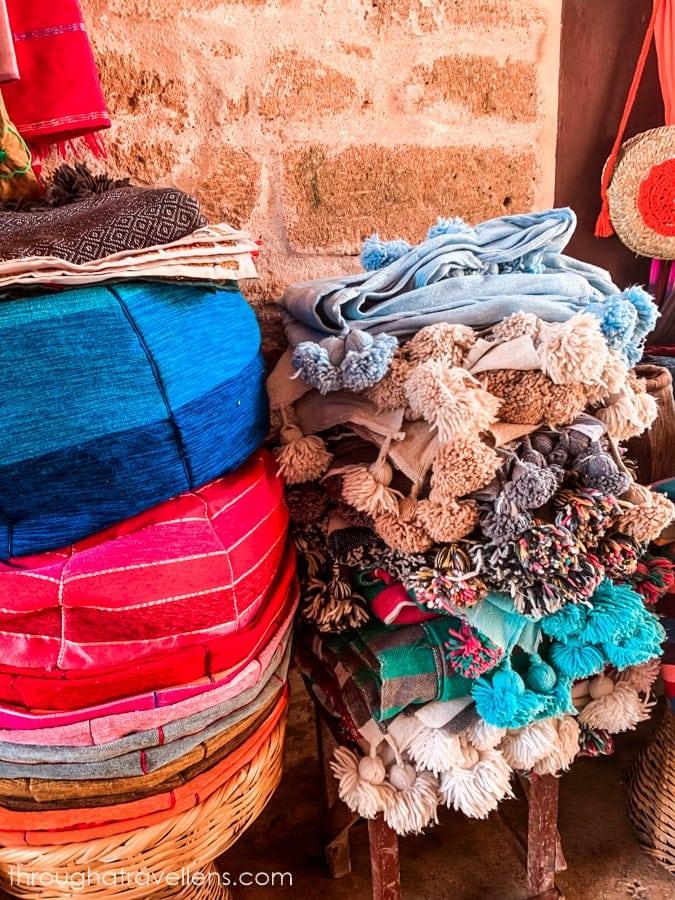 Bazaars on the streets of Essaouira