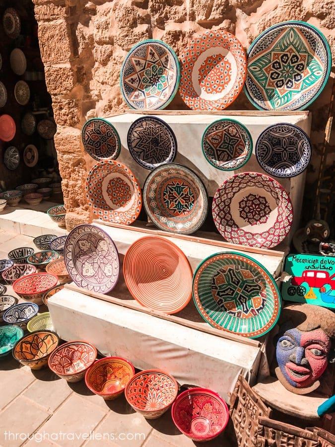 Ceramics on the streets of Essaouira