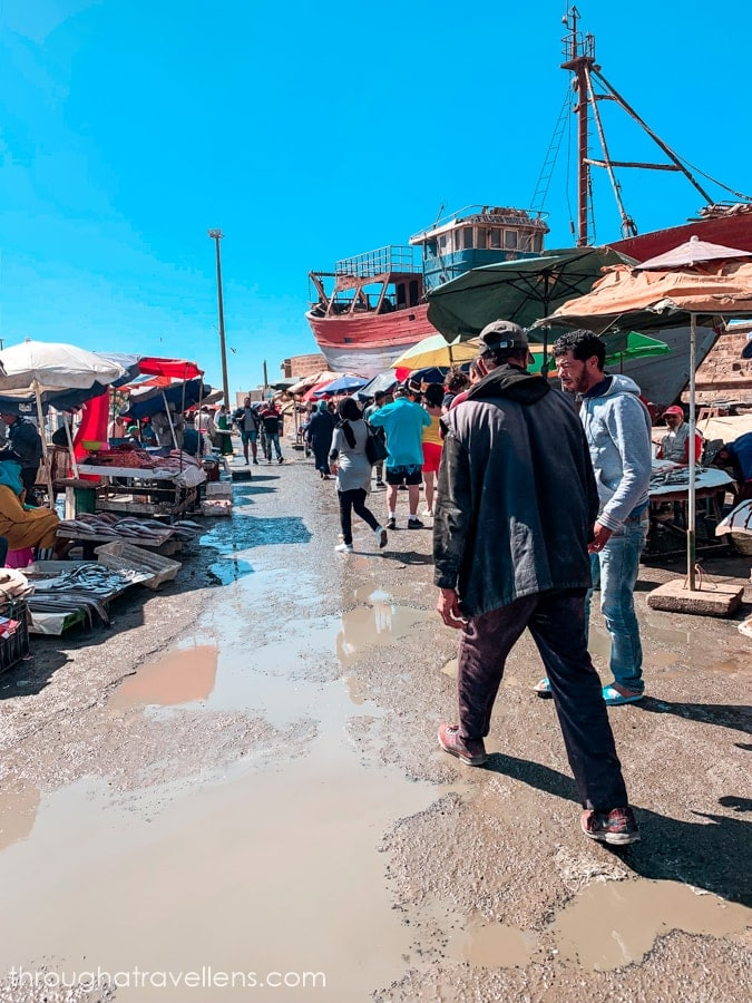 Your Essaouira 3-day trip will not be complete without a visit to the fish market