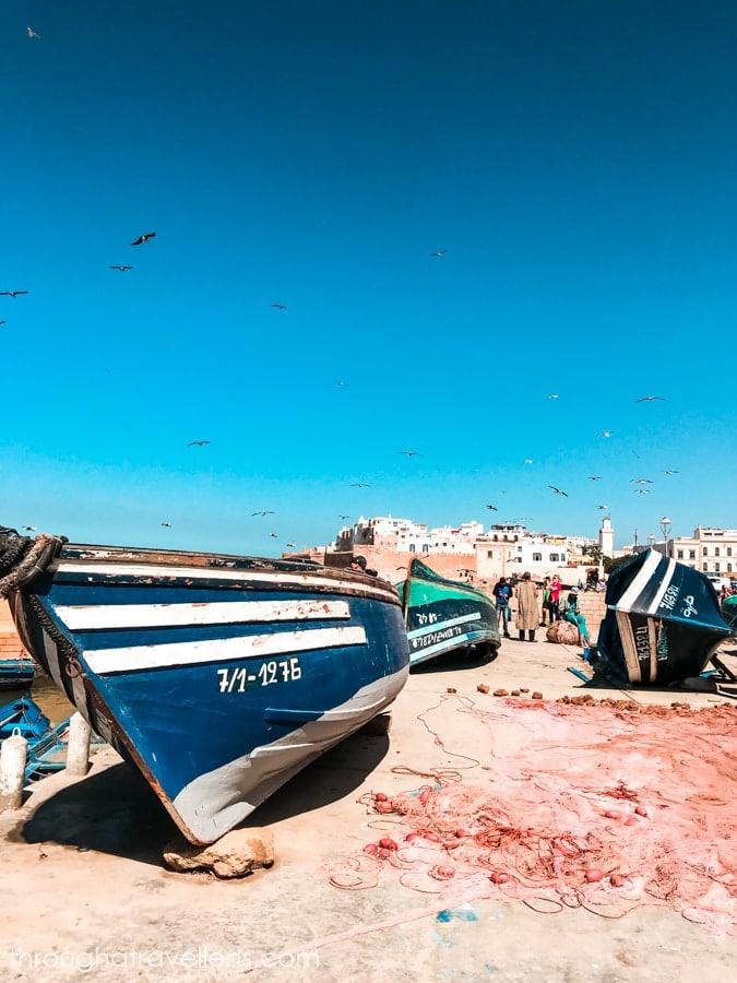 The beautiful scenery of Essaouira