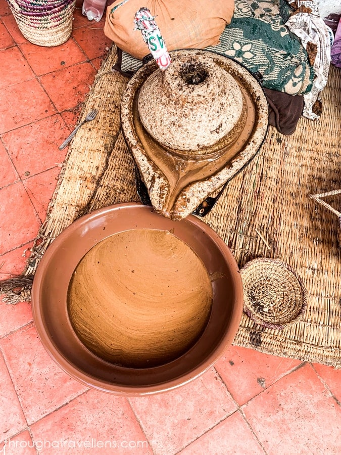 One of the stages of producing Argan oil in Morocco