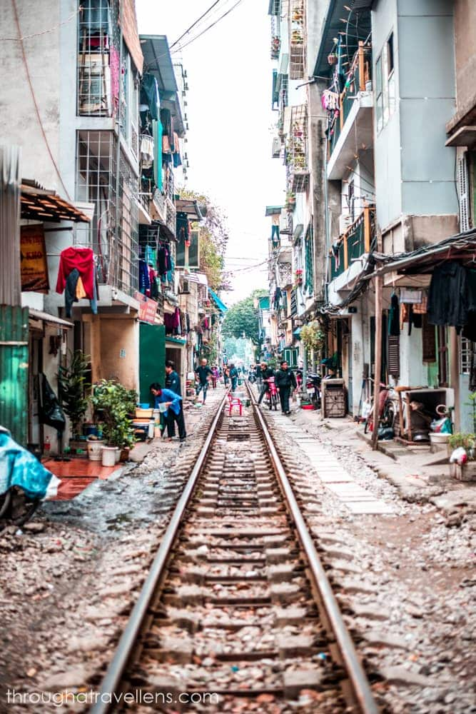 View of the Train Street in Hanoi