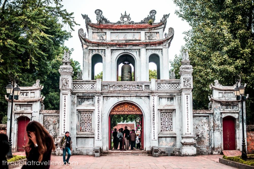 Hanoi Travel Guide: In front of the Temple of Literature