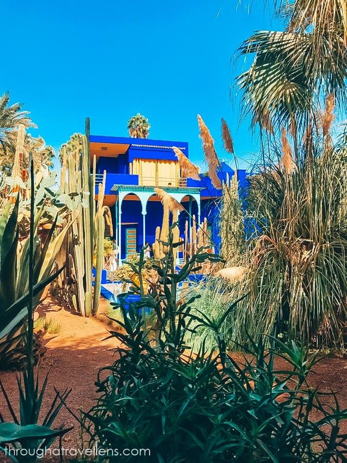 The legendary cobalt-blue house of Yves Saint-Laurent in Marrakech