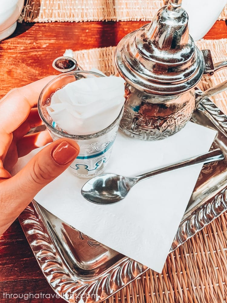 Mint tea on one of many terraces of Marrakech