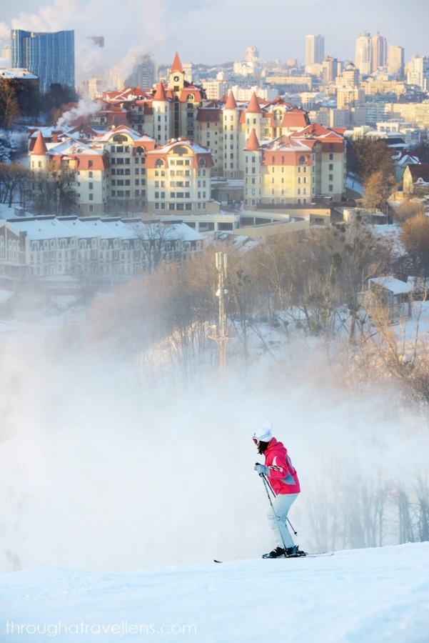 Skiing down Protasiv is one of the best things to do in Kiev in January
