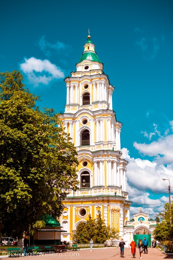 The bell tower of St. trinity Cathedral in Chernihiv