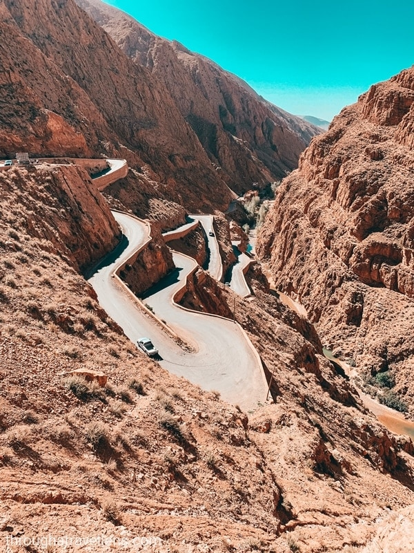 Hairpin turns in Dades, Ouarzazate