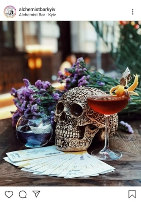 Enjoy authentic atmosphere at The Alchemist bar in Kiev