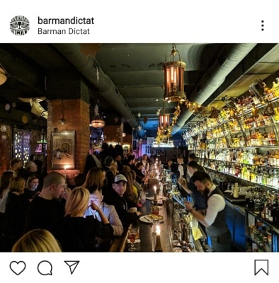 Barman Dictat is one of the best bars in Kyiv