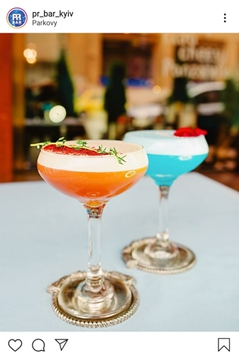 Instagramable coctails at PR Bar