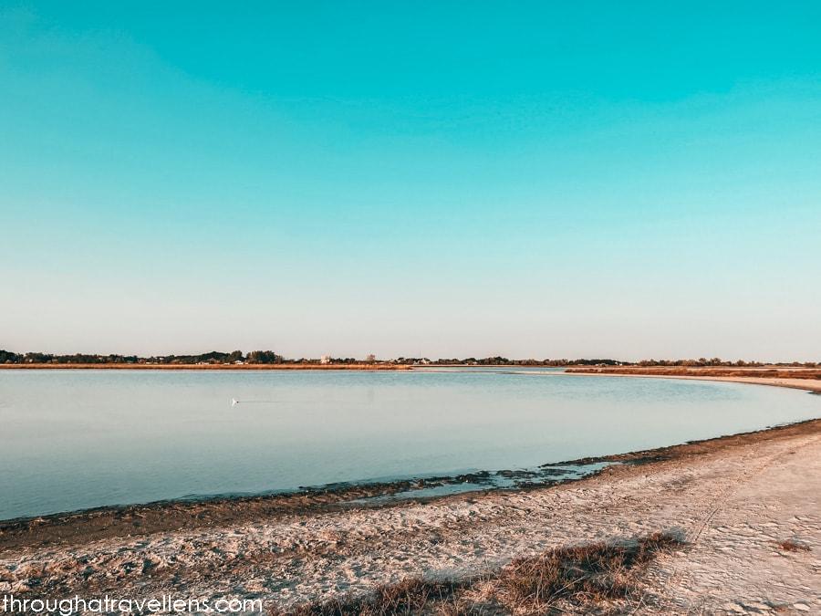Kefal Lakes at sunset, Kinburn Spit