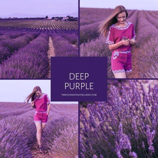 Deep purple lavender mobile preset