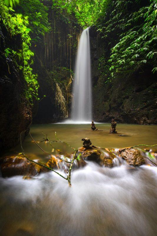Air Terjun Tangkup waterfall near Ubud