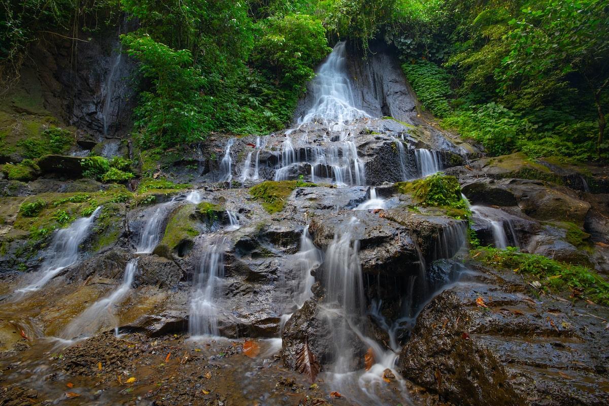 Goa Giri Campuhan waterfall near Ubud